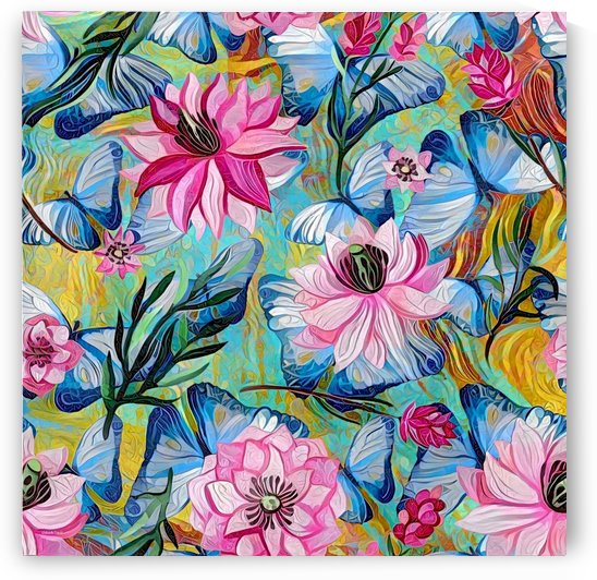 Colorful Floral Abstract  by Gabriella David