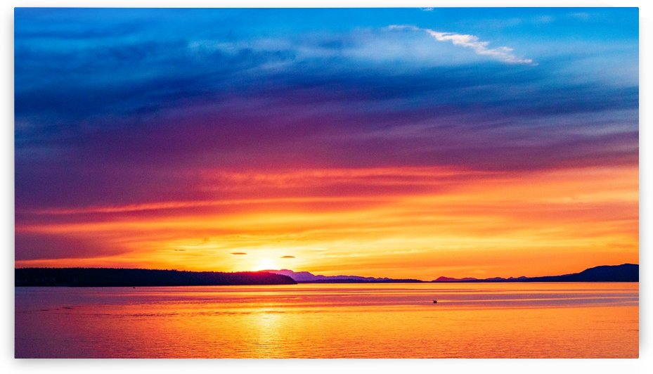 Powell River Sunset 2  by Michael Snell