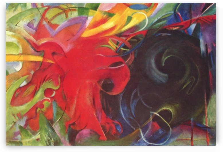 Fighting forms by Franz Marc by Franz Marc