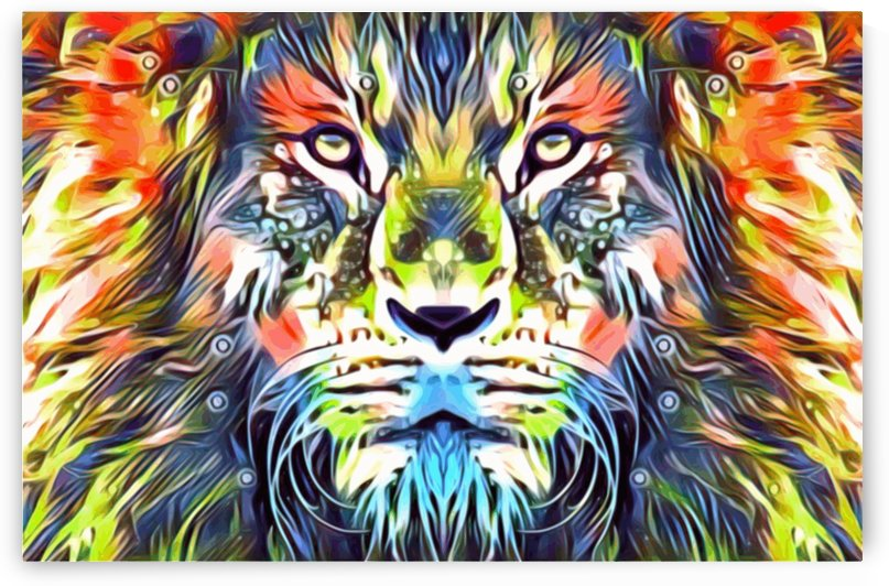 Lions Glare tropical - rainbow lion by Jaycrave Designs