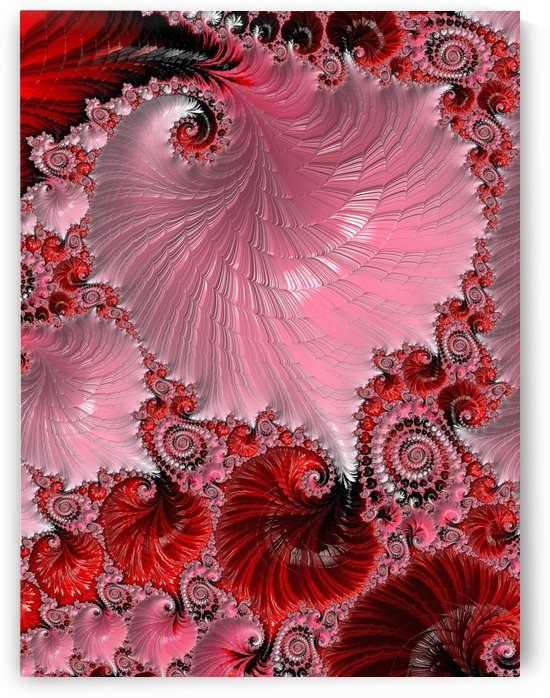 Fractal Art In Pink And Red by HH Photography of Florida