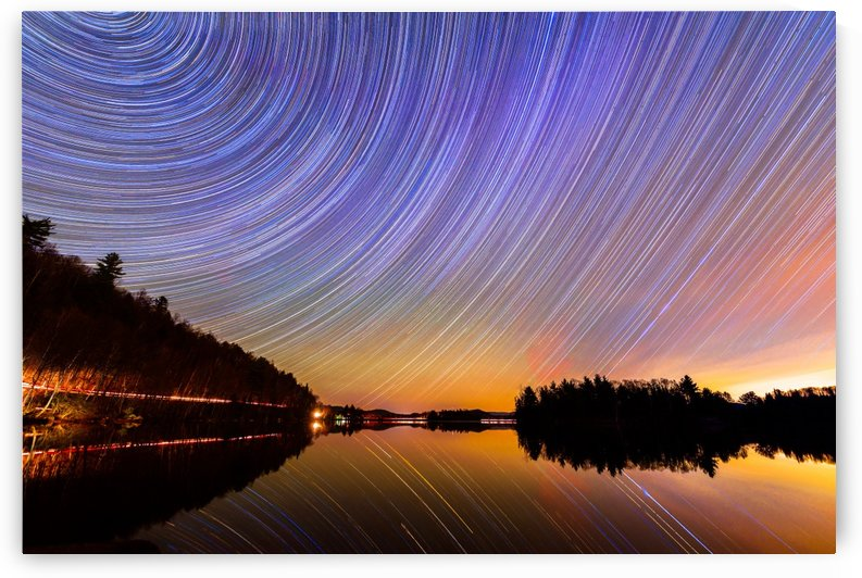 Quebec StarTrails  by Lrenz
