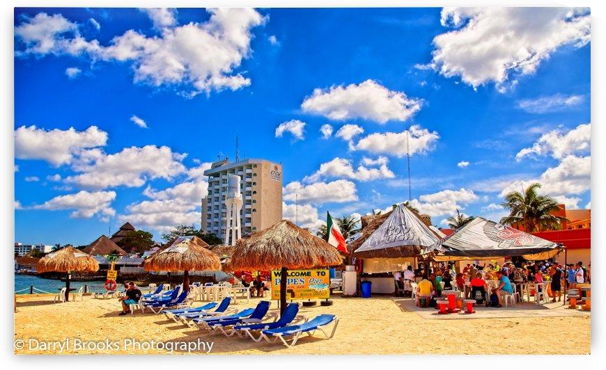 Cozumel Beach Bar and Hotel Ext by Darryl Brooks