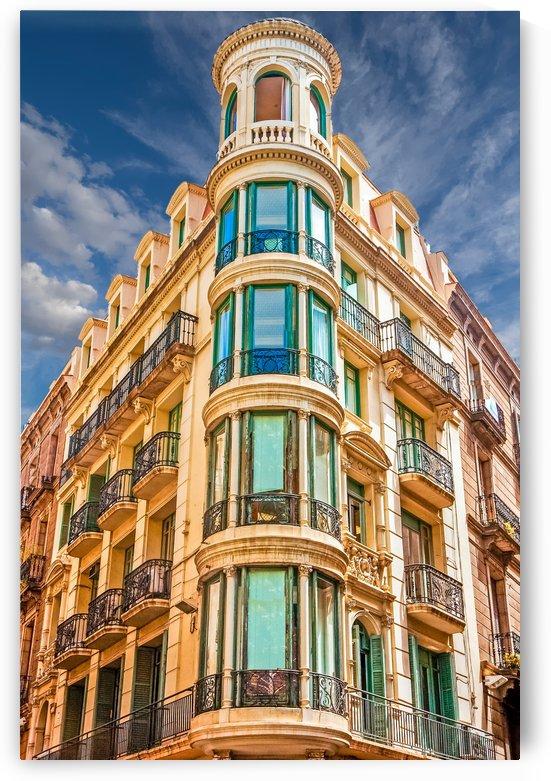 Corner Apartment Building with Round Windows by Darryl Brooks