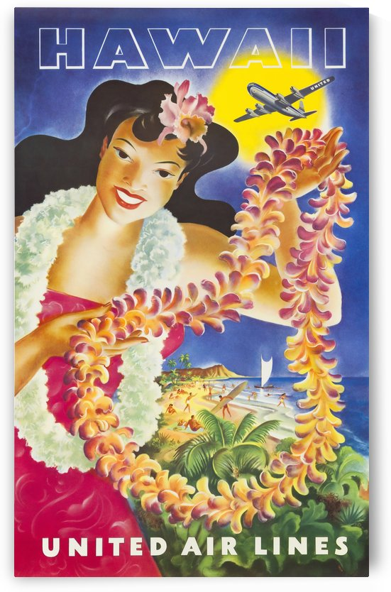 HAWAII TRAVEL POSTER by TRAVEL POSTERS
