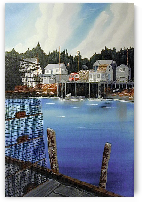 Matinicus Harbour Maine by FoxHollowArt