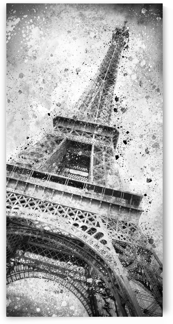Monochrome Art EIFFEL TOWER  by Melanie Viola