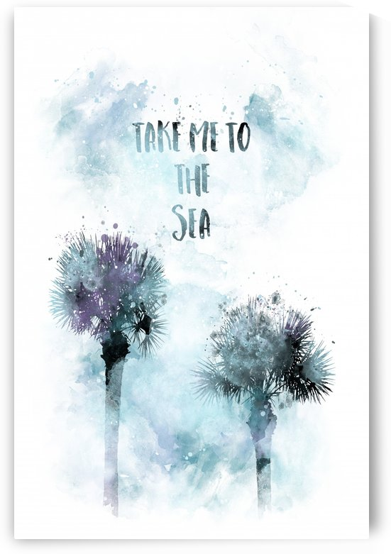 Modern Art TAKE ME TO THE SEA | jazzy watercolor by Melanie Viola