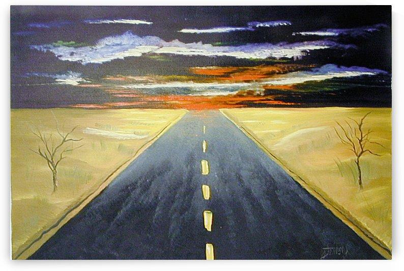 Desert Highway Sunrise by FoxHollowArt