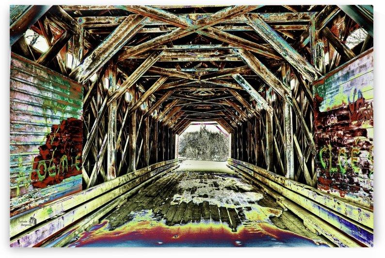 Pont de bois- Wood bridge 2 by Sylvain Bergeron Photographies