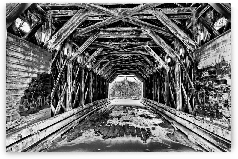 Pont de bois- Wood bridge 2 by Sylvain Bergeron Photographies
