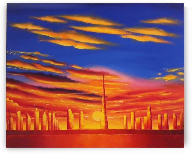 Sunset in Dubai by Ivy