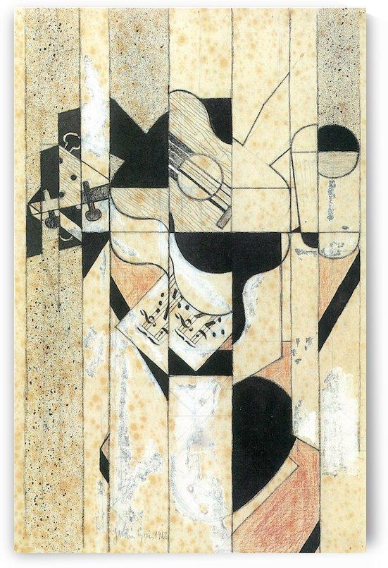 Guitar and glass by Juan Gris by Juan Gris