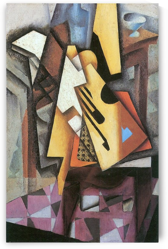 Guitar and stool by Juan Gris by Juan Gris