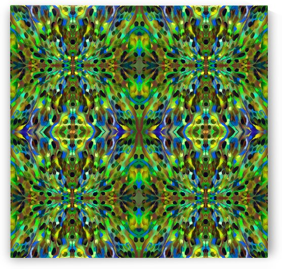 Green Energetic Pattern I by Christy Litster