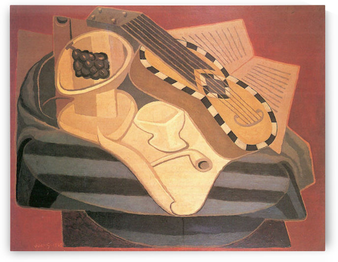 Guitar with ornaments by Juan Gris by Juan Gris