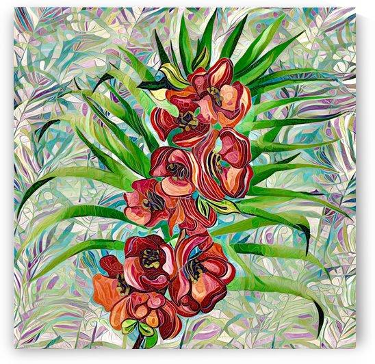 Abstract Floral by Gabriella David