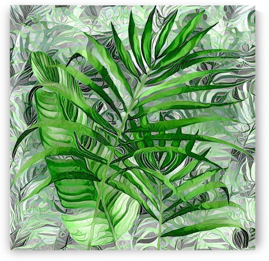 Abstract Tropical Leaves by Gabriella David