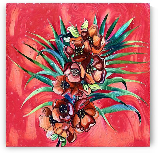 Vibrant Colors Tropical Floral by Gabriella David
