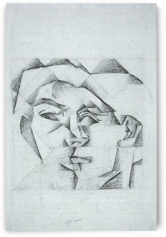 Head of a man (head of a woman) by Juan Gris by Juan Gris