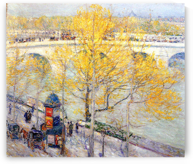 Pont Royal, Paris by Hassam by Hassam
