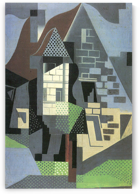Houses in Beaulieu by Juan Gris by Juan Gris