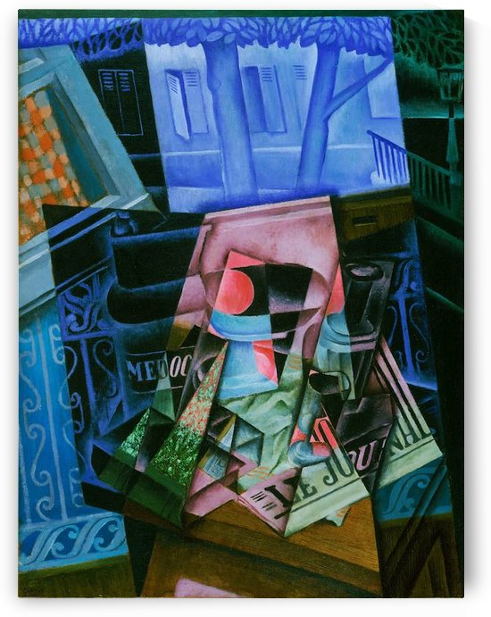 Juan Gris - Still Life before an Open Window by Juan Gris