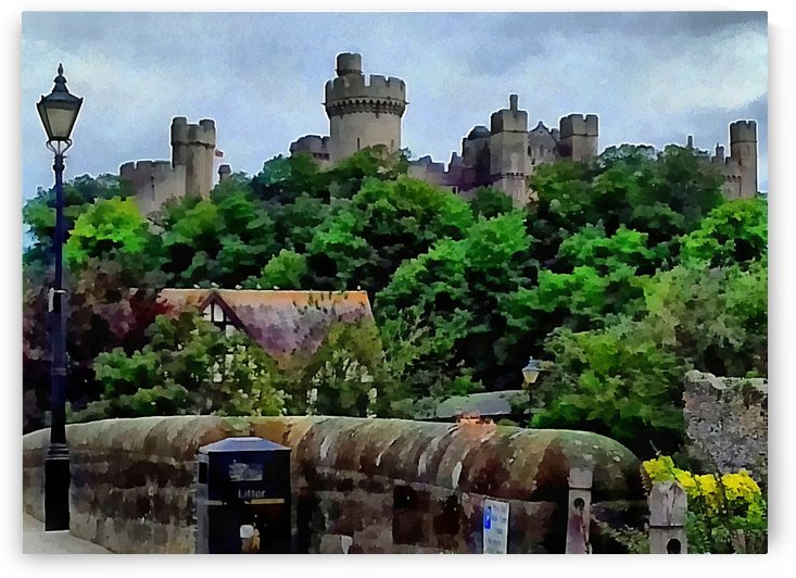 View of Arundel Castle From Bridge by Dorothy Berry-Lound