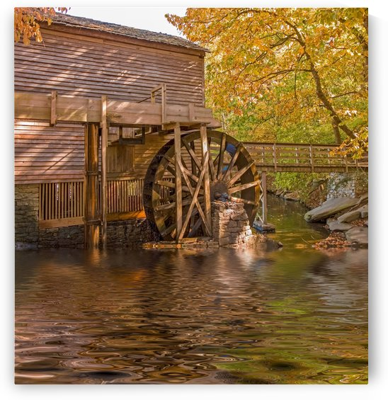 Grist Mill by Lake by Darryl Brooks