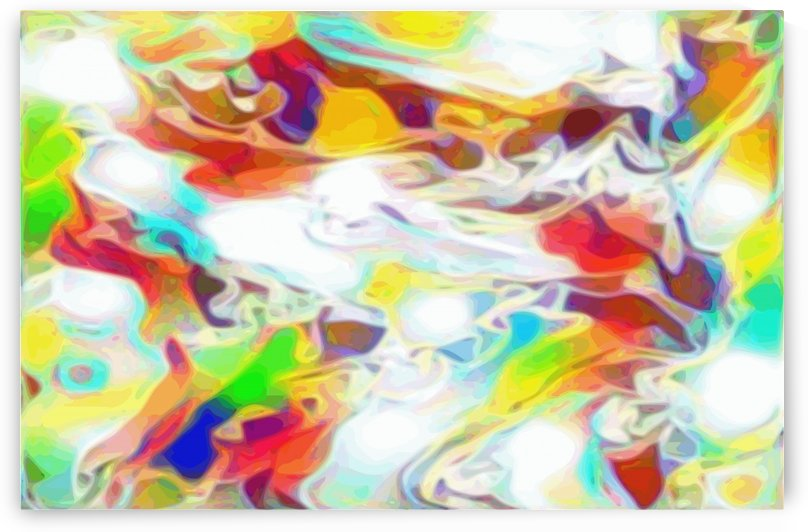 Prisms - rainbow white abstract swirl wall art by Jaycrave Designs