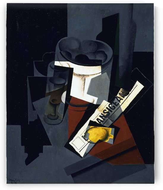 Juan Gris - Still life with newspaper by Juan Gris
