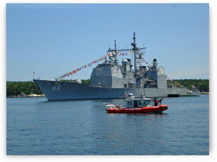 U.S. Navy - Coast Guard On Patrol by FoxHollowArt