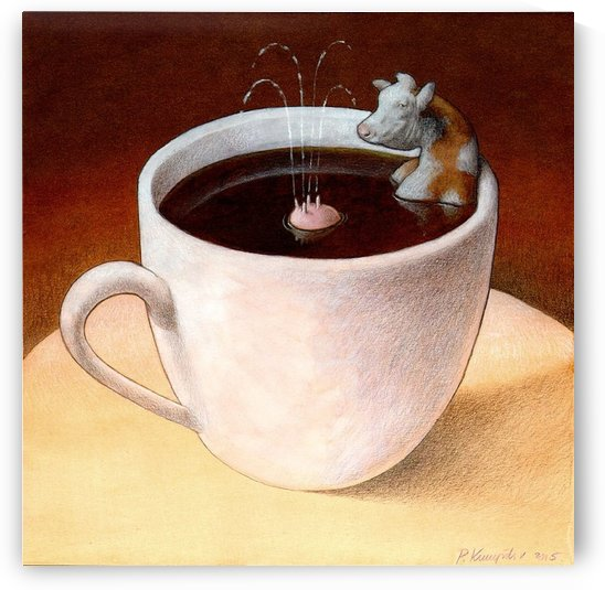 Coffee with milk by Pawel Kuczynski