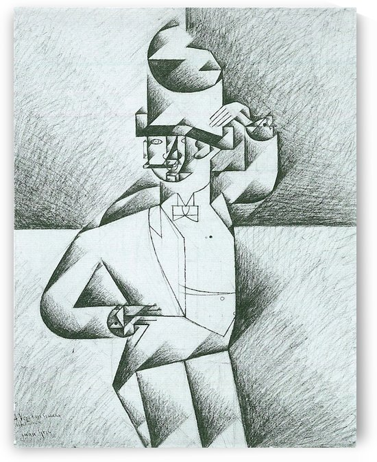 Man in Cafe by Juan Gris by Juan Gris