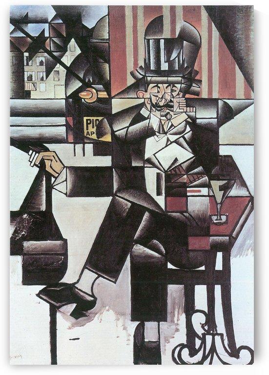 Man in Cafe -1- by Juan Gris by Juan Gris