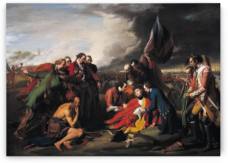 The death of the general by Benjamin West