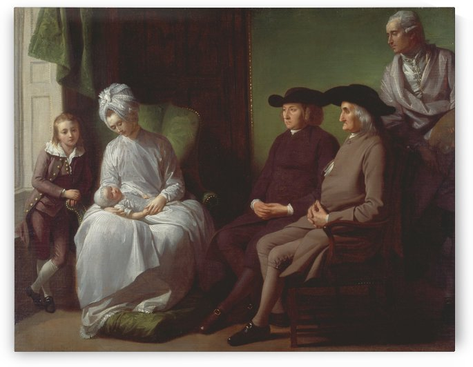 The Artist and his family by Benjamin West