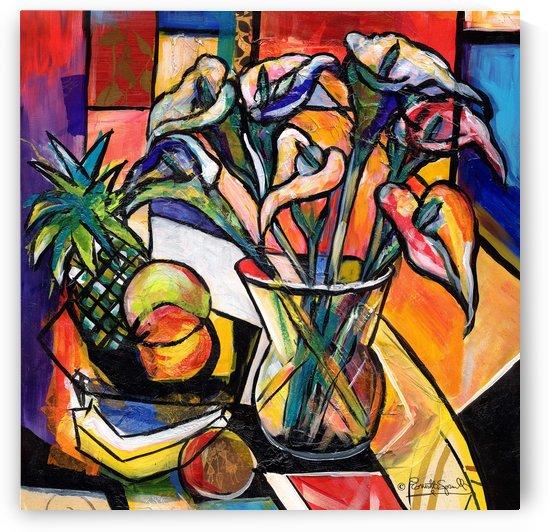 still life callla lillies by Everett Spruill