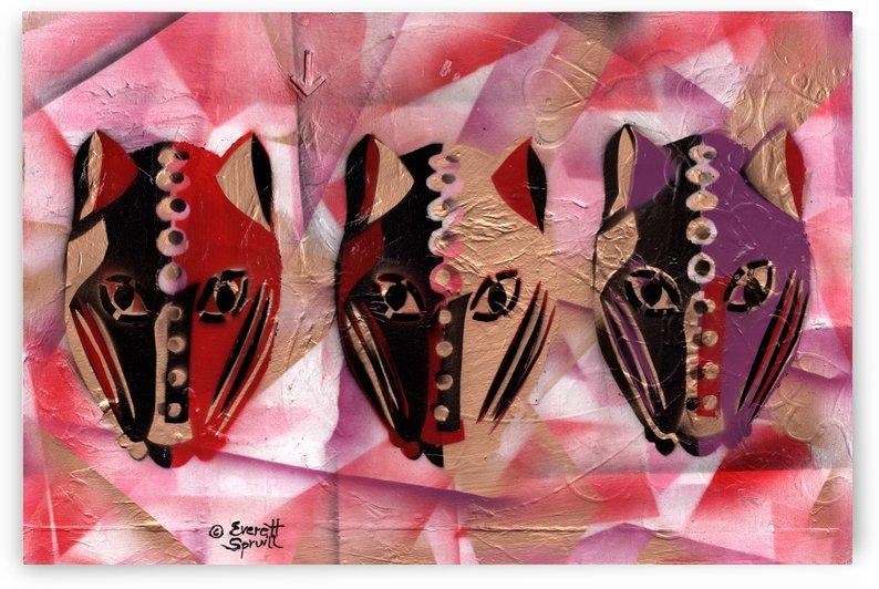 Three Leopards by Everett Spruill