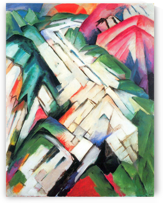 Mountains - landscape by Franz Marc by Franz Marc