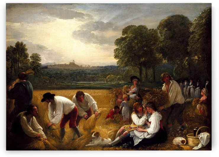 Harvesting at Windsor by Benjamin West