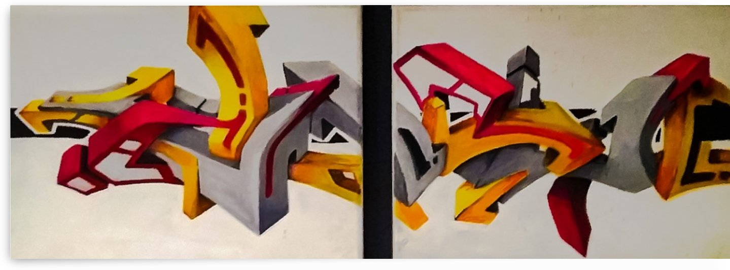 3D GRAFFITI SMALL CANVAS   1 by Steve Meyerholz