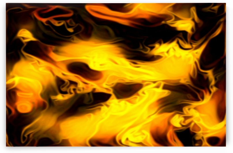 Soft Golden Blankets - orange black gold abstract swirls wall art by Jaycrave Designs