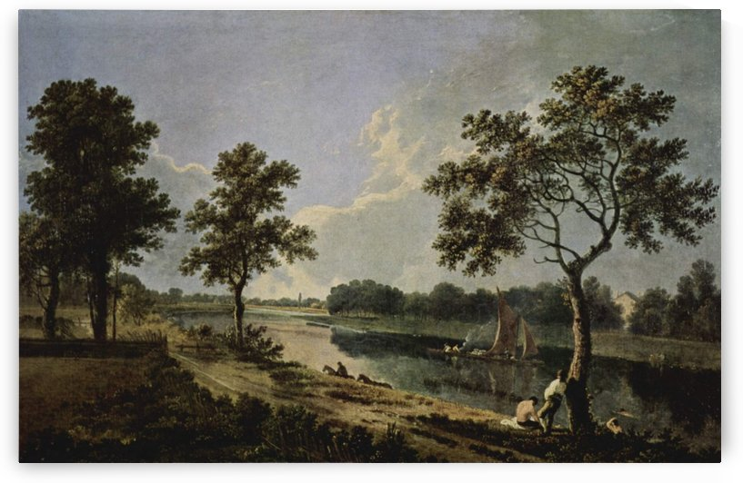 Men by the river by Richard Wilson