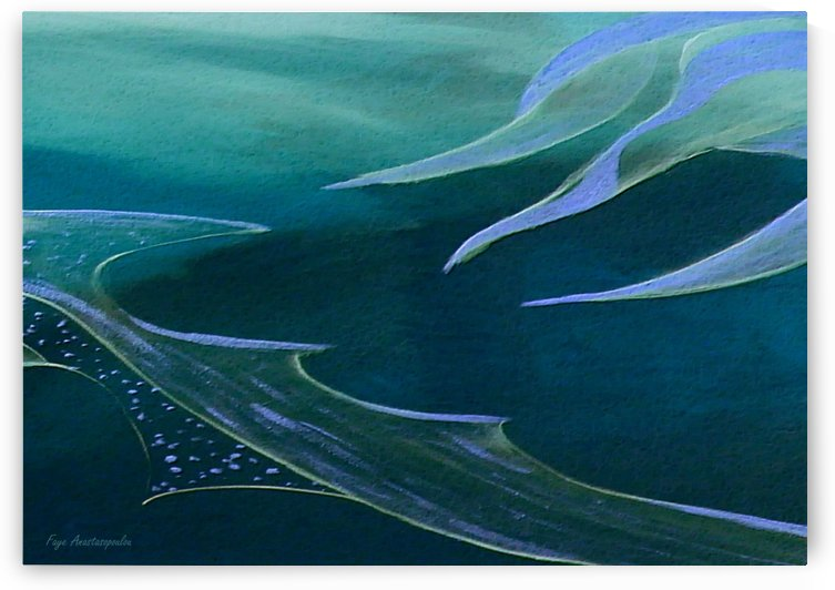 Teal Abstraction by Faye Anastasopoulou