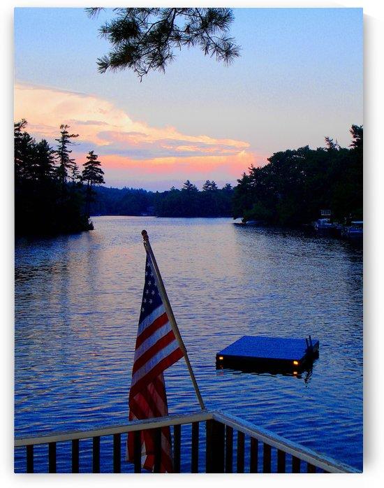 Sunset On Lake Monomonac - Rindge New Hampshire by FoxHollowArt