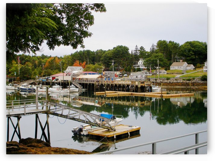 Robertsons Wharf - Southport Island Maine by FoxHollowArt