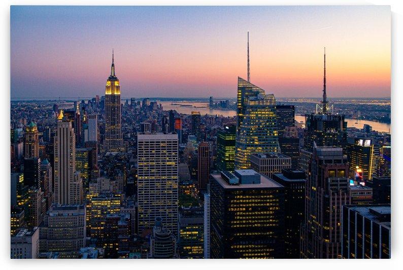 Sunset in New York City by Filippo Manaresi