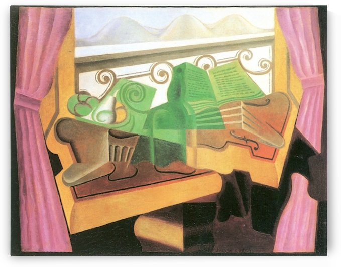 Open windows with hills by Juan Gris by Juan Gris