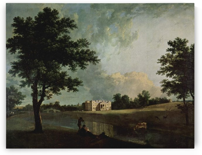 Castle by the river by Richard Wilson
